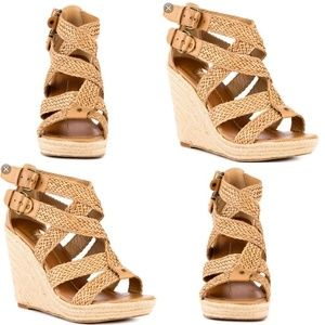 DV by Dolce Vita Talor Woven Wedges Nude Size 8